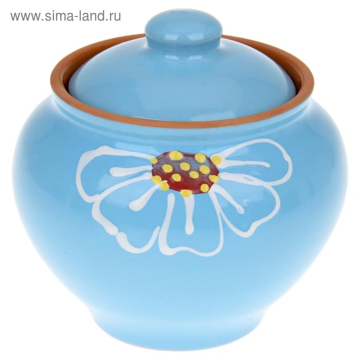 """Горшочек для запекания """"Псковский"""" голубой 0,85 л"""