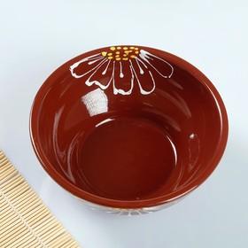 Bowl large 0.8 L Pskov, brown