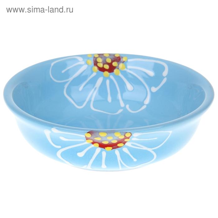 """Миска малая 0,4 л """"Псковская"""", цвет голубой"""
