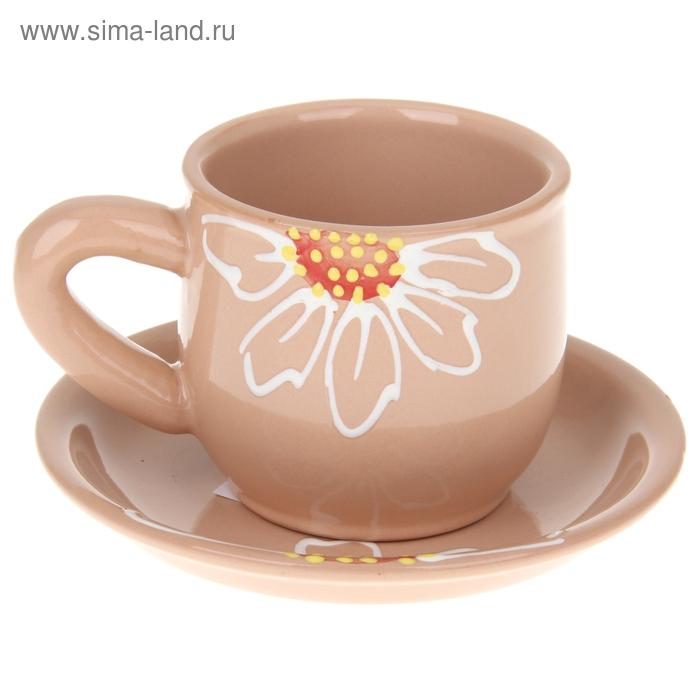 """Чайная пара 350 мл """"Псковская"""", цвет бежевый"""