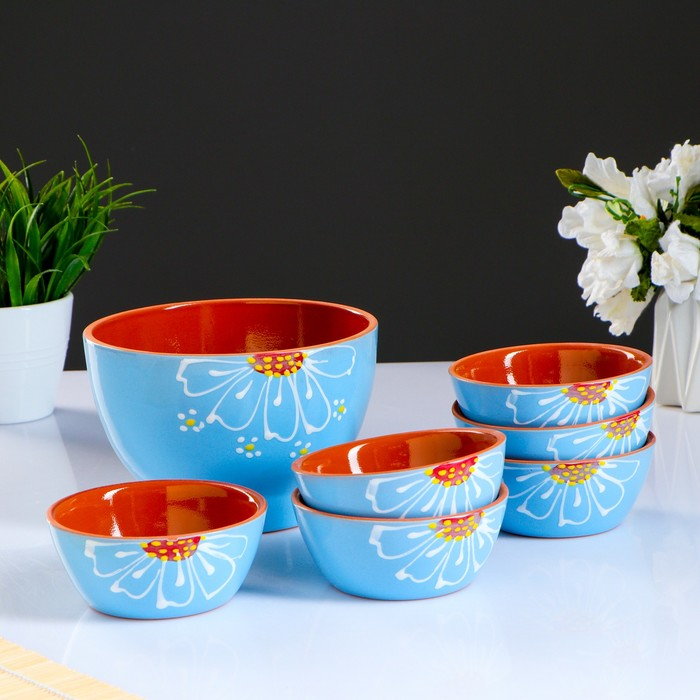 A set of salad bowls