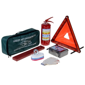 Premium motorist's kit, 6 items, first-aid kit by order of the Ministry of Health.