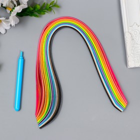 Kit 160 quilling strips with a width of 0.3 cm, the