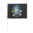 "Флаг пирата ""Храбрый пират"", 30 х 45 см + флагшток"