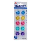 Набор магнитов для доски 10 штук, d-2 см прозрачные на блистере МИКС