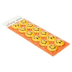 Magnets for whiteboard, Smile, d-3 cm, set of 12 PCs., on blister card