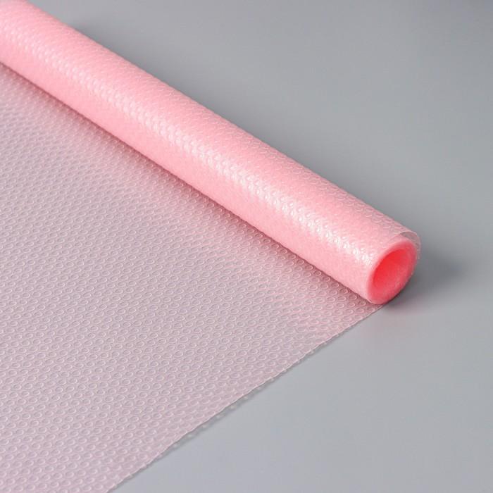 "The Mat is anti-slip 30х150 cm ""Circles"", the color pink, transparent"