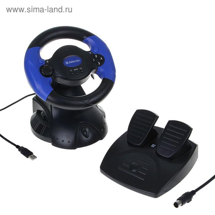 Игровой руль DEFENDER Adrenaline Mini LE USB, мини, 10 кнопок