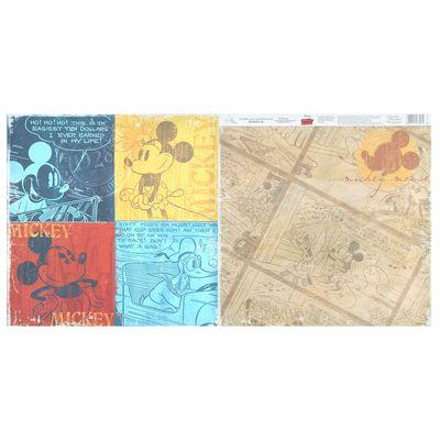 "Бумага для скрапбукинга ""Old's cool: Mickey"", Микки Маус и друзья, 29.5 х 29.5 см, 160 г/м²"