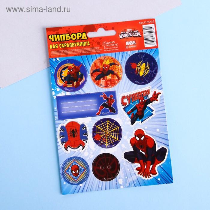"""Чипборд вырубной для скрапбукинга """"Супергерой"""", Человек-Паук"""