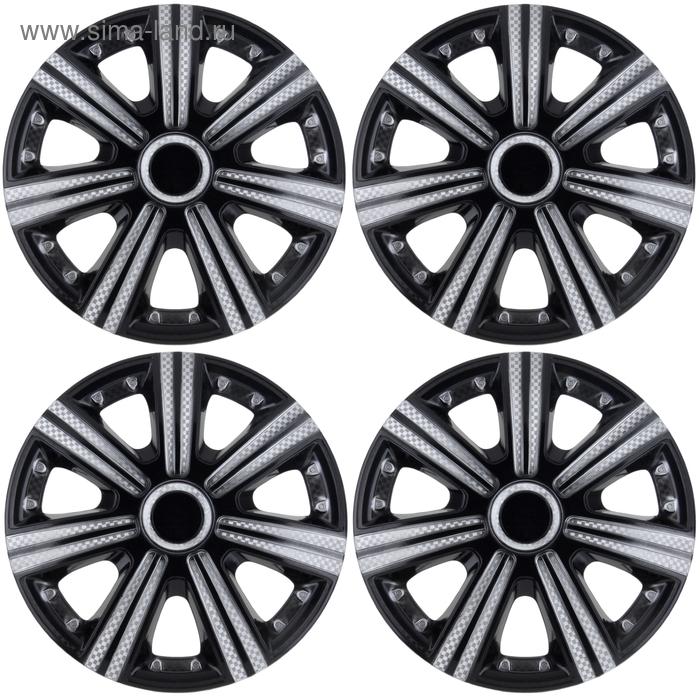 Колпаки колесные R13 DТМ Super Black, набор 4 шт.