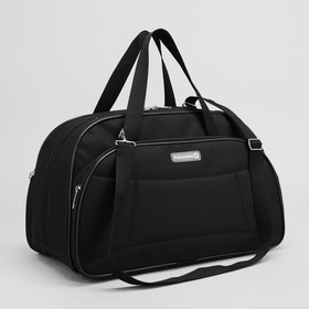 Travel bag, zip pocket, outer pocket, black.