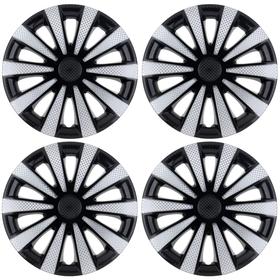 """Hubcaps wheel R16 """"Karat"""" Super Black, 4 PCs set"""