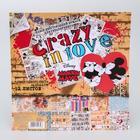 """Набор бумаги для скрапбукинга """"Crazy in love"""", Микки и Минни, 12 листов, 29.5 х 29.5 см, 160 г/м²"""