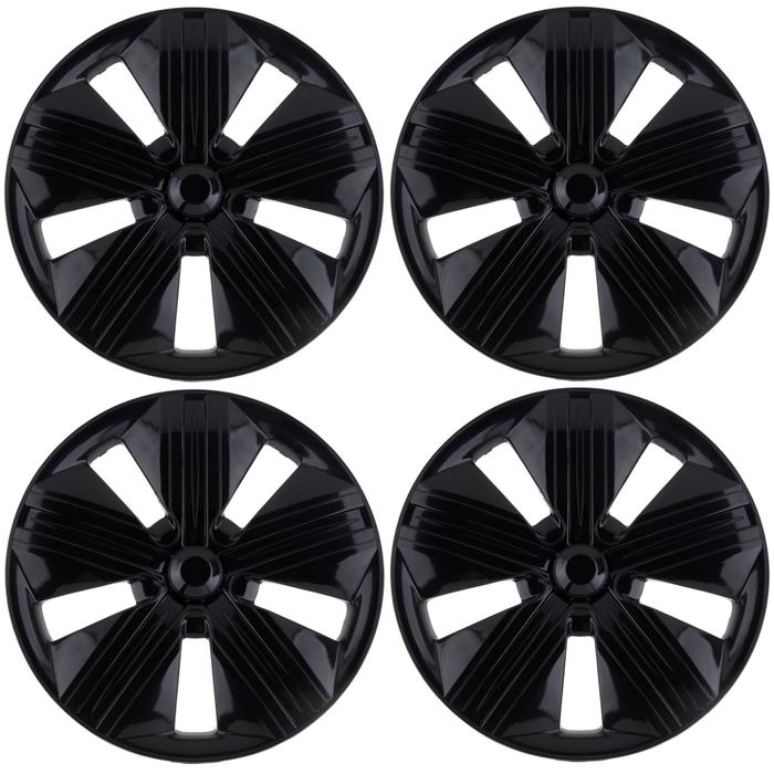 """Колпаки колесные R14 """"Брабус"""", черный глянец, набор 4 шт."""