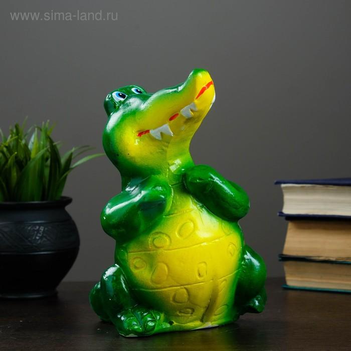 """Копилка """"Задумчивый крокодил"""""""