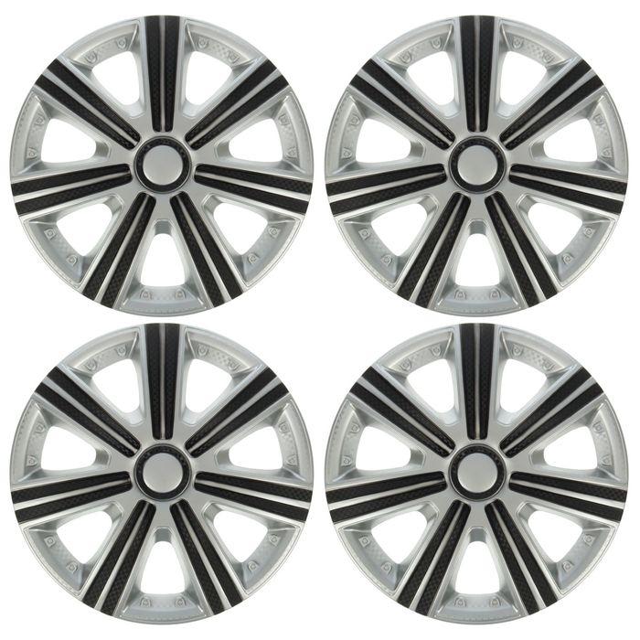 Колпаки колесные R15 DTM Super Silver, набор 4 шт.