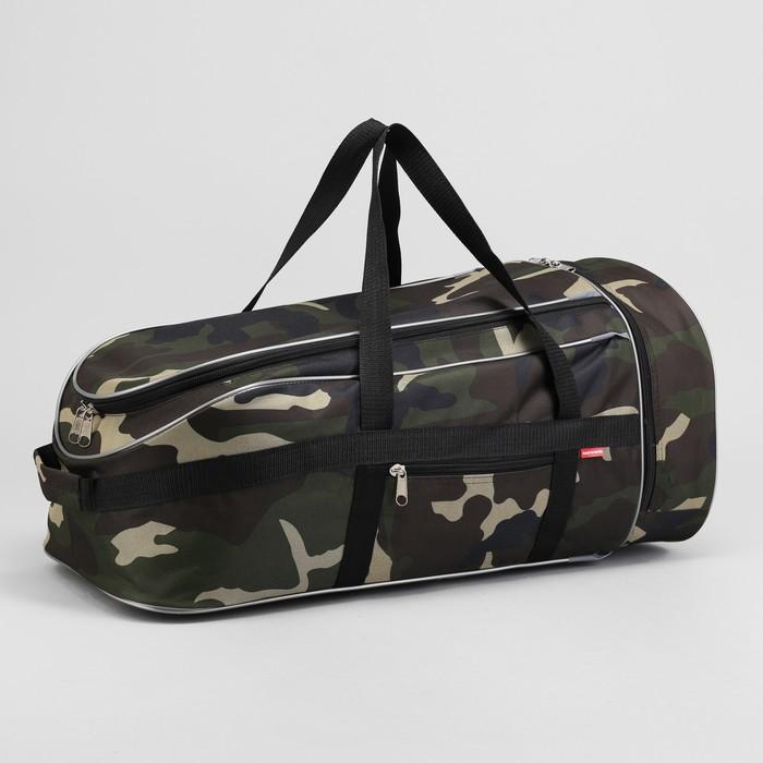 """Сумка-рюкзак на молнии """"Камуфляж"""", 1 отдел, 1 наружный карман, объём - 58л, цвет хаки"""
