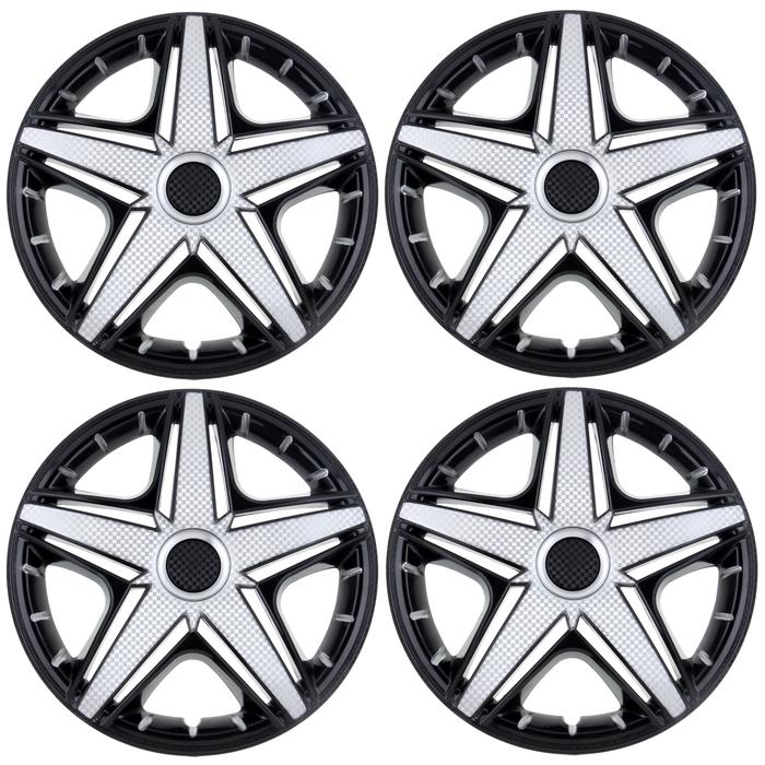 Колпаки колесные R14 NHL Super Black, набор 4 шт.