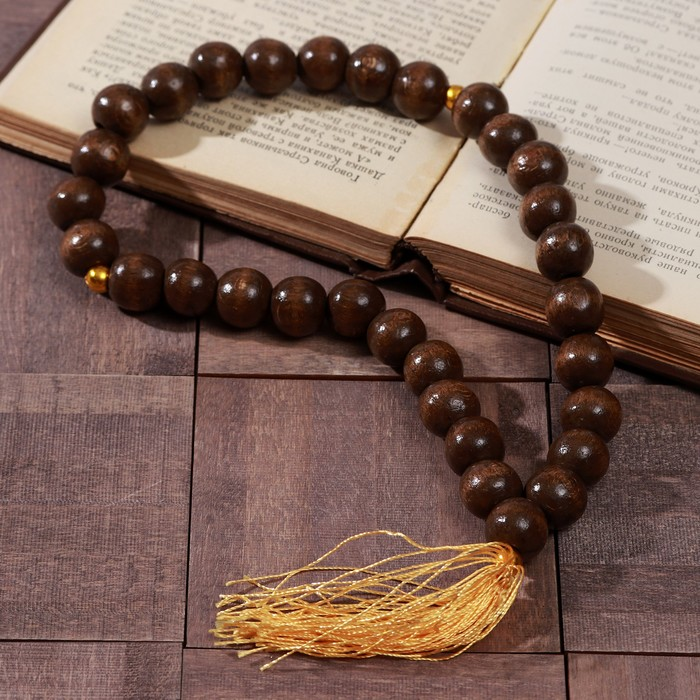 """Rosary """"Wooden"""", color light brown"""