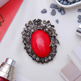 "Brooch Empress ""dark coral"""