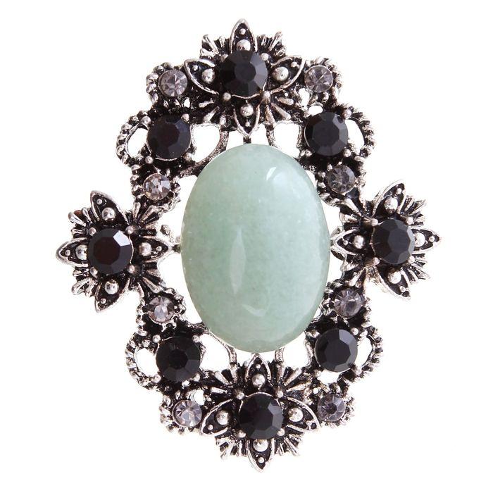 Brooch flower small Jade