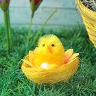 """Сувенир """"Цыпа в подсолнухе с яйцом"""""""