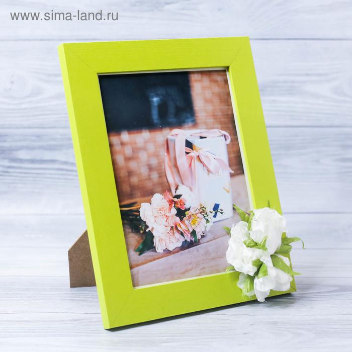 Декоративная фоторамка–панно «Любовь и счастье в дом» с цветами, 15 х 20 см
