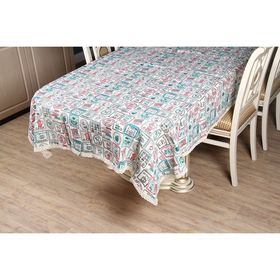 "Tablecloth ""Ethel"" espresso 140*180 cm, 100% cotton"