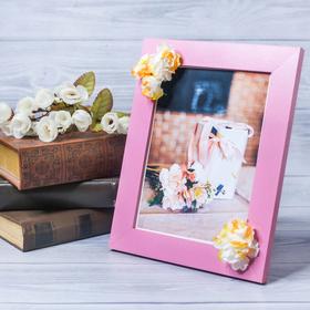 Фоторамка «Поздравляю» 15 × 20 см, с цветочным декором Ош