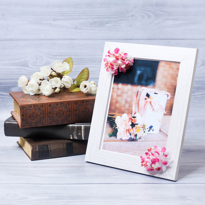 """Decorative photo frame–picture """"Perfect wife"""" with flowers, 15 × 20 cm"""
