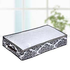 Кофр для хранения вещей «Вензель», 80×45×15 см, цвет чёрно-белый