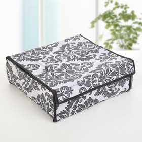 Organizer for linen with a cover, 16 cells, 30x30x10 cm