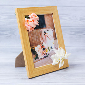 """Decorative photo frame–the panel """"Most gentle"""" with the flowers, 15 × 20 cm"""