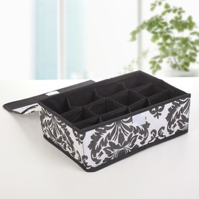 Organizer for linen with a cover, 12 cells, 30x20x10 see