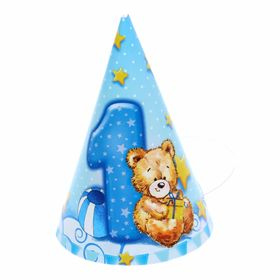 """Set for a children's party """"I am 1 year old"""" (for a boy)"""