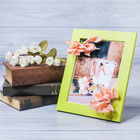 "Decorative photo frame–picture ""Happiness, heat,"" with flowers, 15 × 20 cm"