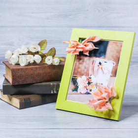 """Decorative photo frame–picture """"Happiness, heat,"""" with flowers, 15 × 20 cm"""