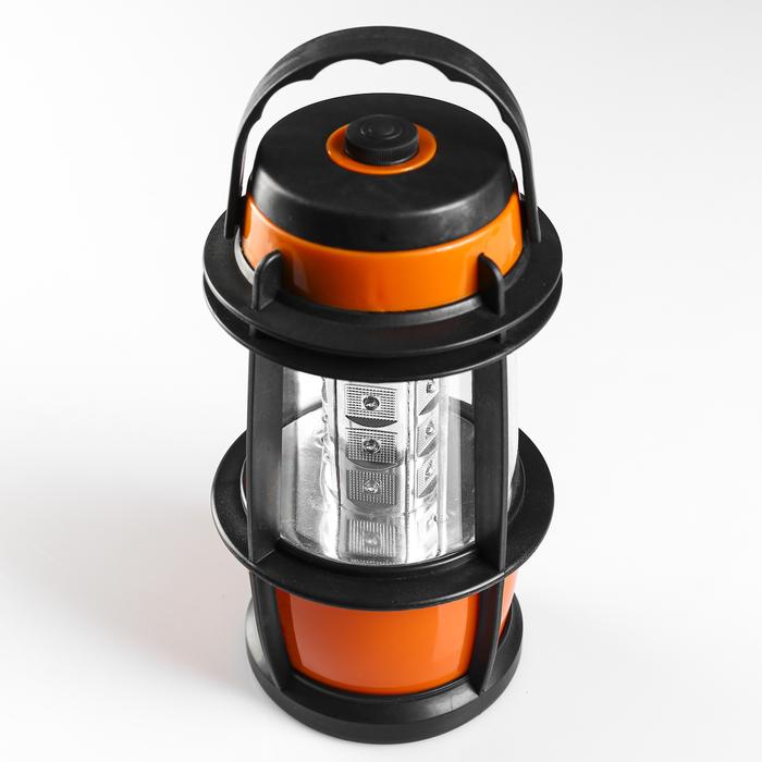 Фонарик переносной, в виде лампы, с зарядкой, чёрно-жёлтый, 4 АА, 22.5х12 см