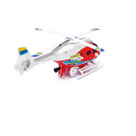 """Clockwork helicopter """"Rescue"""", light and sound effects, MIX colors"""