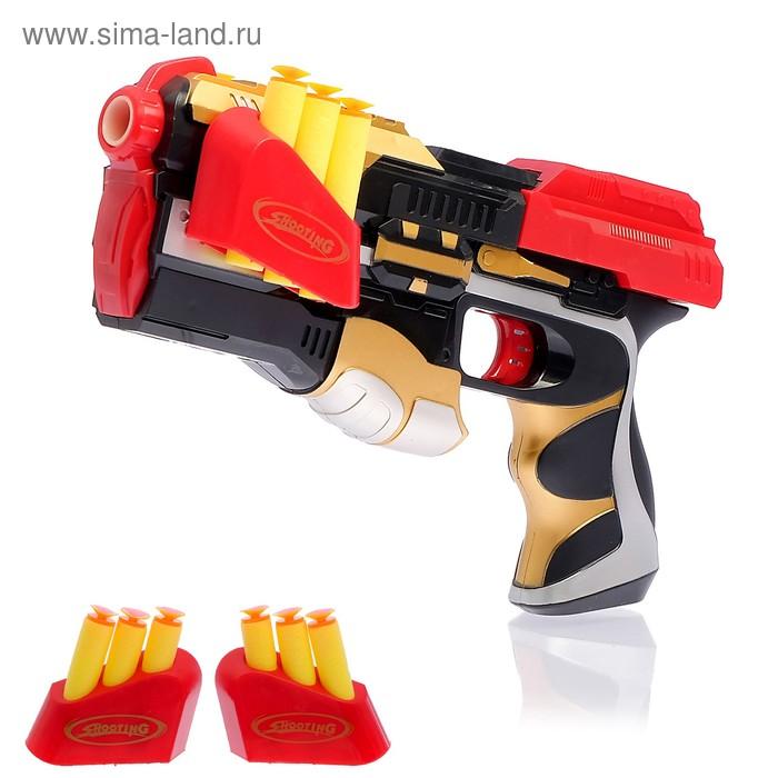 """Пистолет """"Бластер"""", стреляет присоскам, 6 шт"""