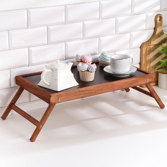 Столик для завтрака «Добропаровъ», тёмная столешница