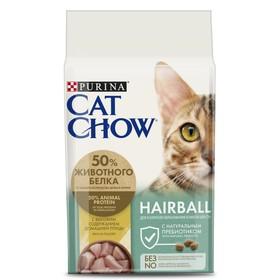 Сухой корм CAT CHOW для кошек, профилактика комочков шерсти, 1.5 кг