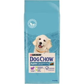 DOG CHOW PUPPY dry food for puppies, lamb, 14 kg.