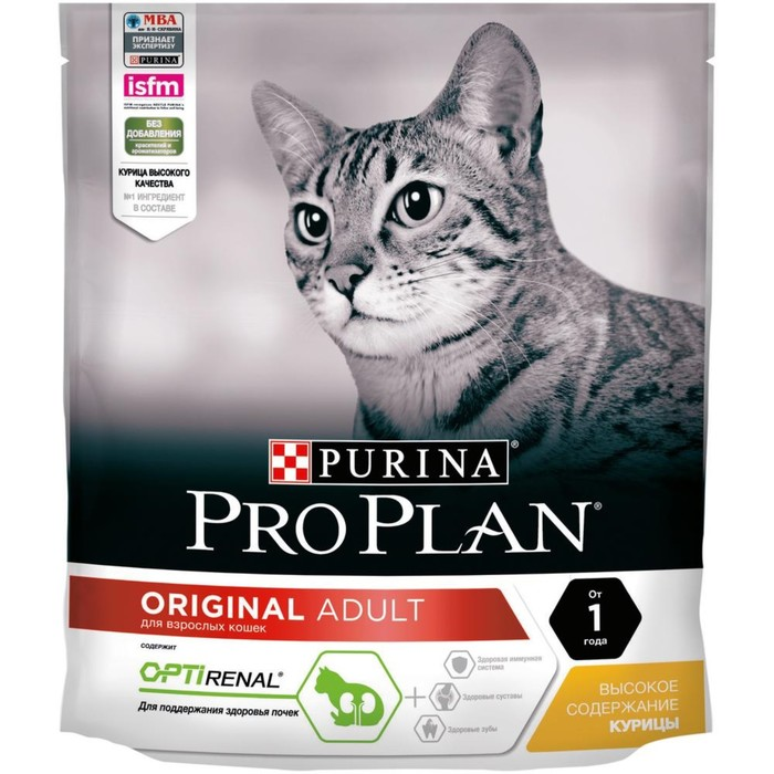 Dry food PRO PLAN for cats, chicken / rice, 400 g.