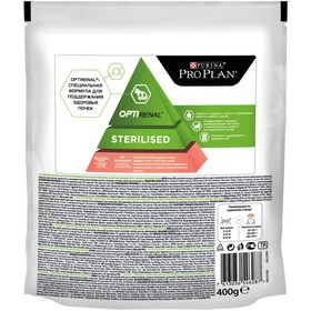 Dry food PRO PLAN for sterilized cats, salmon, 400 g.