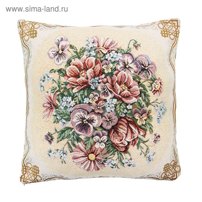Наволочка из гобелена Dekortex Любимые цветы 50*50 см