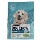 Сухой корм DOG CHOW PUPPY для щенков, курица, 2.5 кг