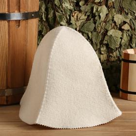 Банная шапка «Колокольчик», белая Ош