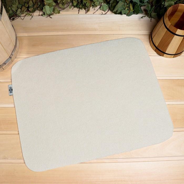 Коврик для бани и сауны «Классический», белый, 46 × 39 см